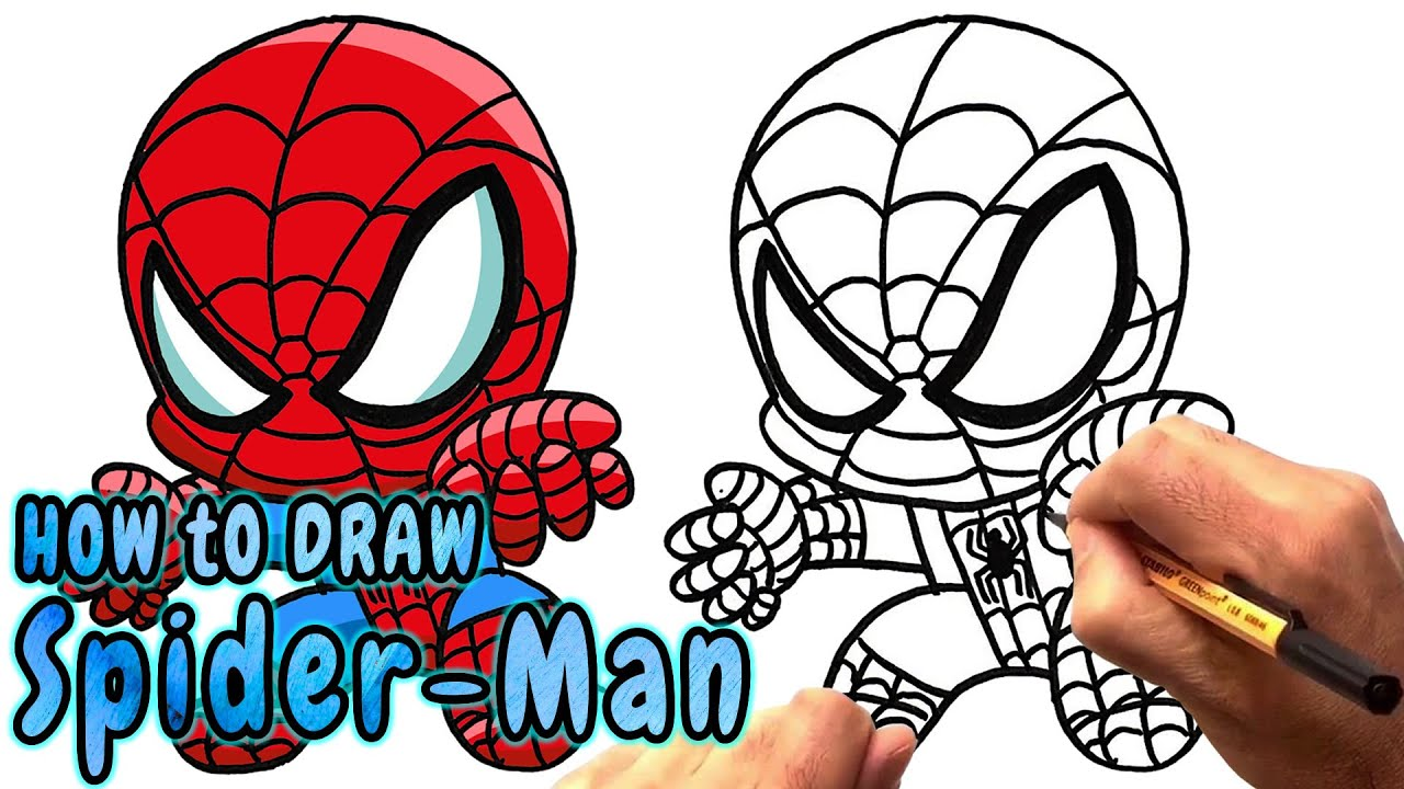 1280x720 How To Draw Chibi Spider Man