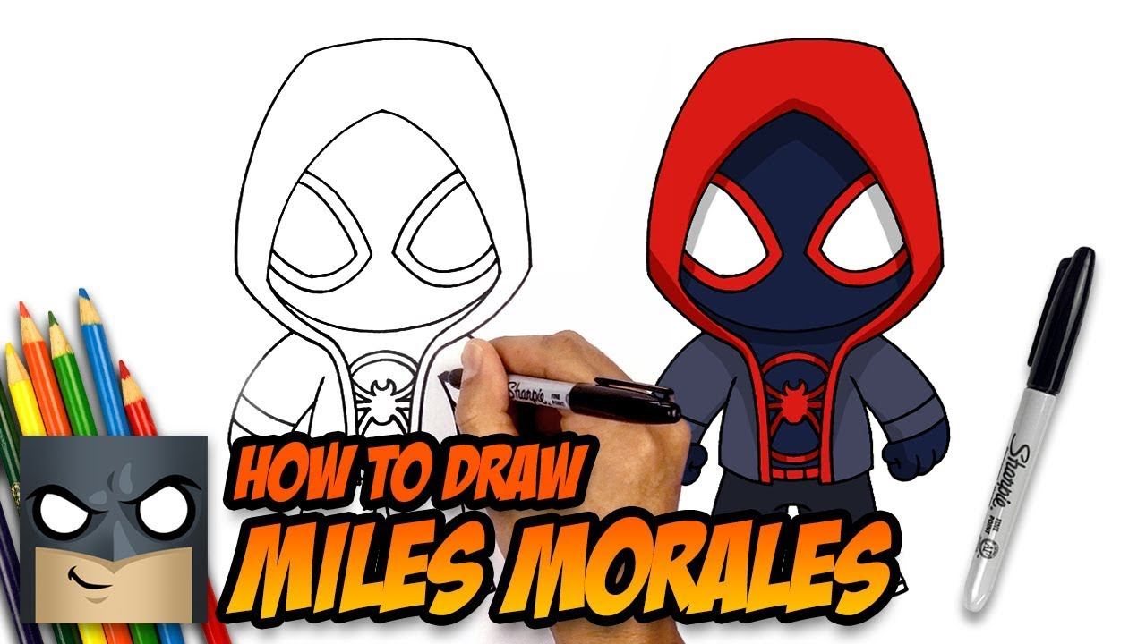 1280x720 How To Draw Miles Morales Spider Man Step