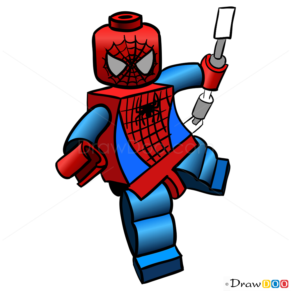 1000x1000 How To Draw Spider Man, Lego Super Heroes