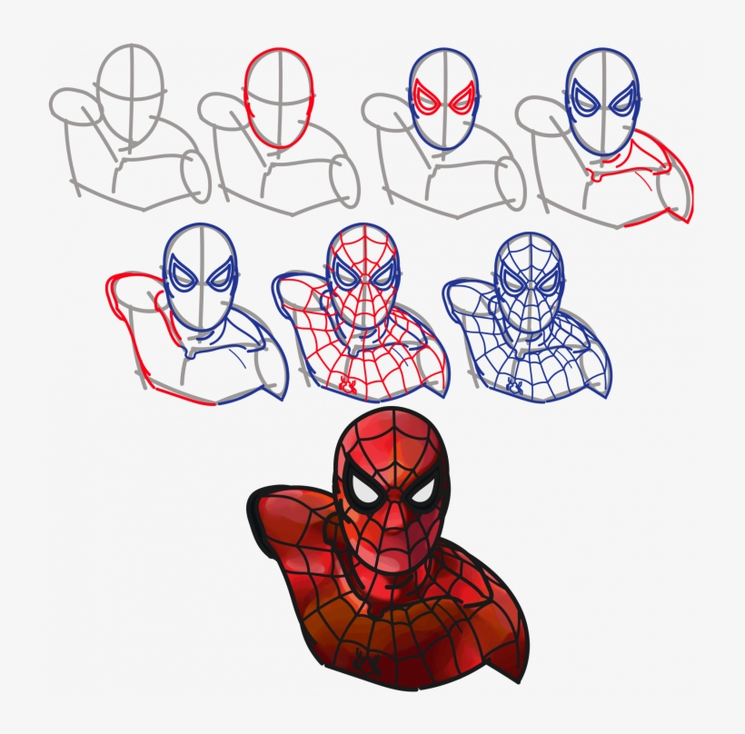 820x808 Medium Size Of How To Draw Spiderman Step