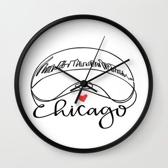 550x550 Chicago Cloud Gate Bean Wall Clock