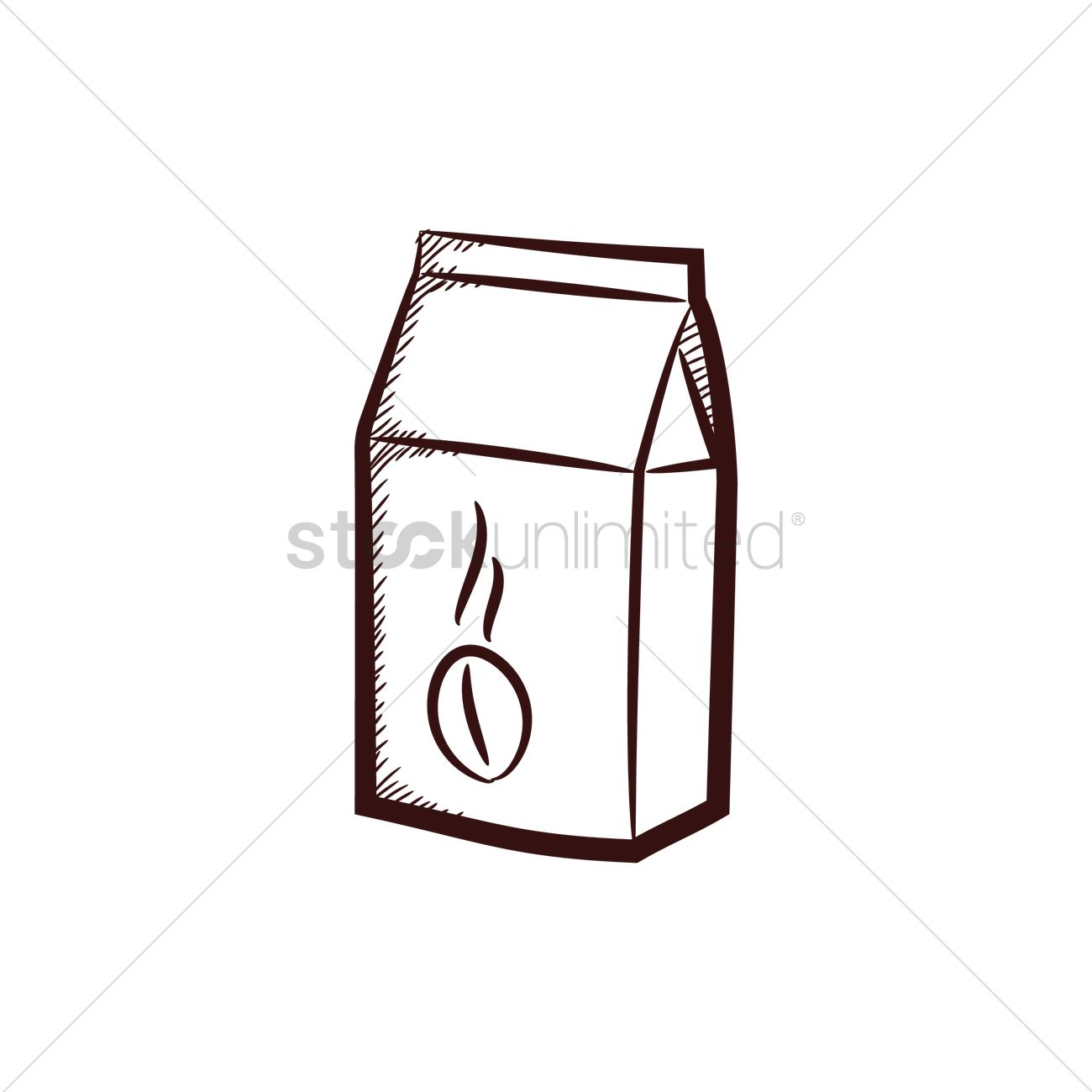 1300x1300 Coffee Bean Paper Bag Vector Image