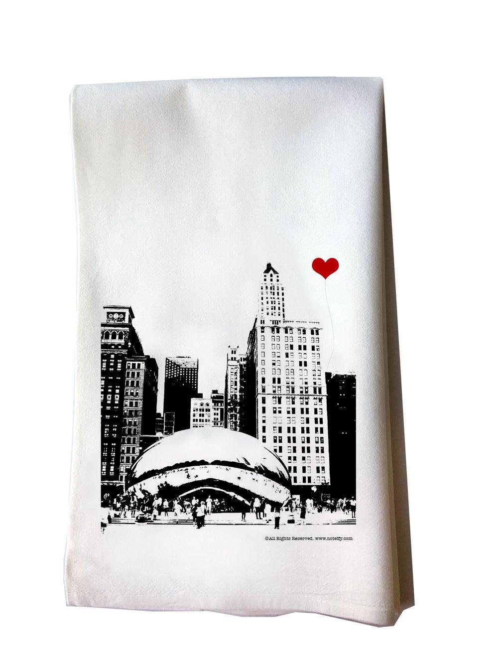 1000x1333 Noteify Chicago Bean Tea Towel