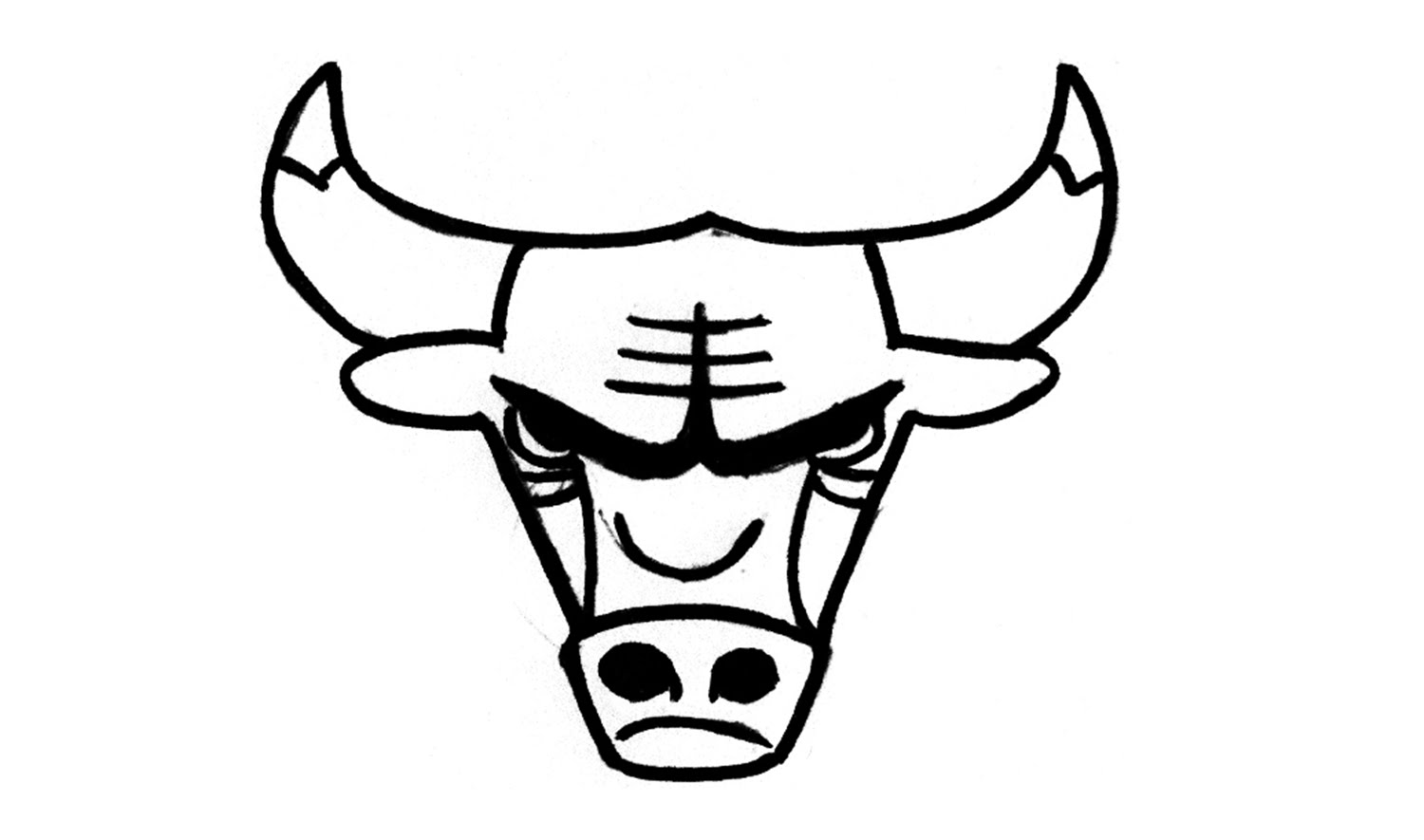 1500x885 Bronco Drawing Logo Chicago Bulls For Free Download