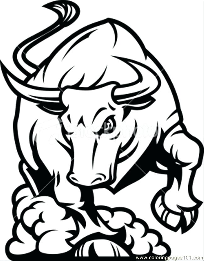 650x834 Bulls Coloring Pages Basketball Draw Chicago