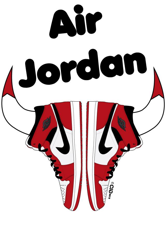 640x960 Bulls Logo Drawing
