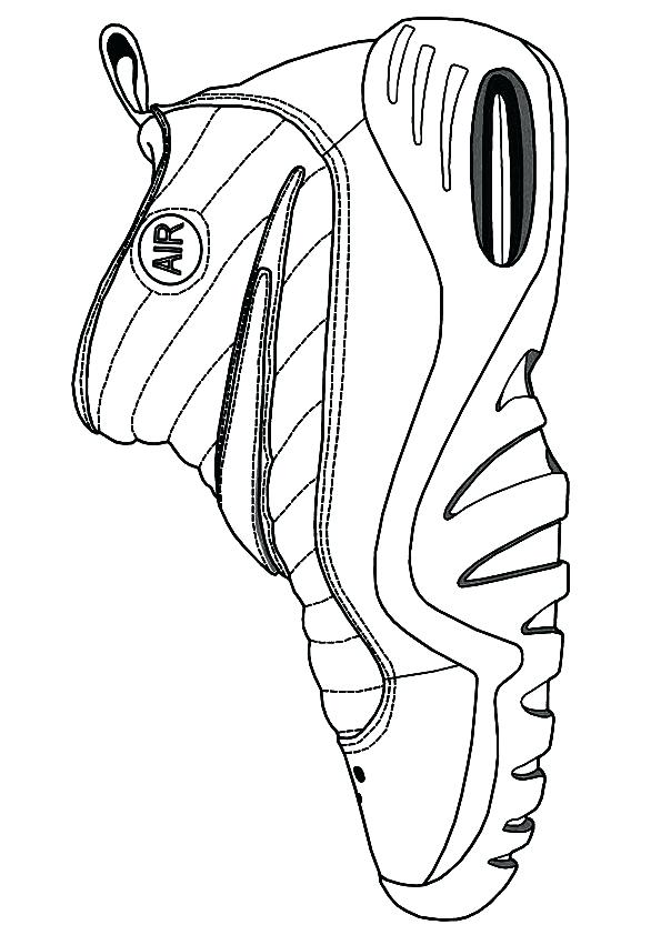 595x842 Chicago Bulls Coloring Pages Coloring Pages Air Shoe A Chicago