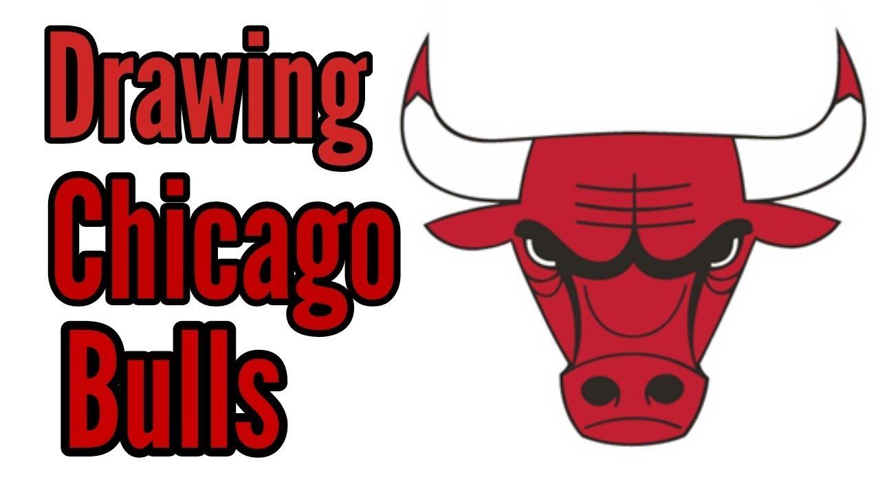 1280x720 Drawing Chicago Bulls Logo