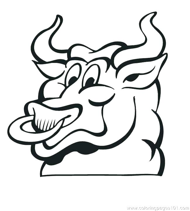 650x724 Bulls Color Chicago Coloring Pages Basketball