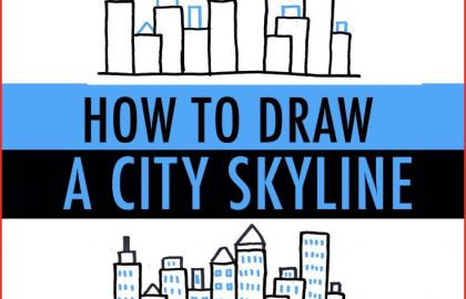 420x270 city skyline drawing city drawing chicago skyline chicago
