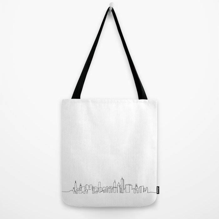 700x700 Chicago Skyline Drawing Tote Bag