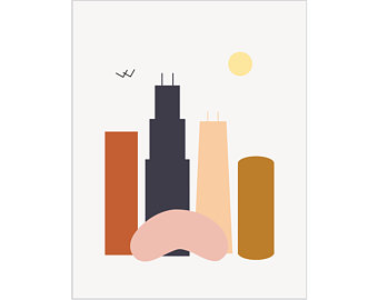 340x270 Chicago Drawing Etsy