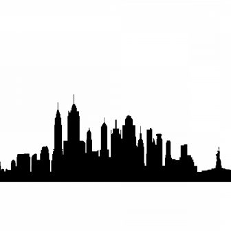 336x336 Cities Cant Draw Road City Skyline Clipart Chicago Black And White