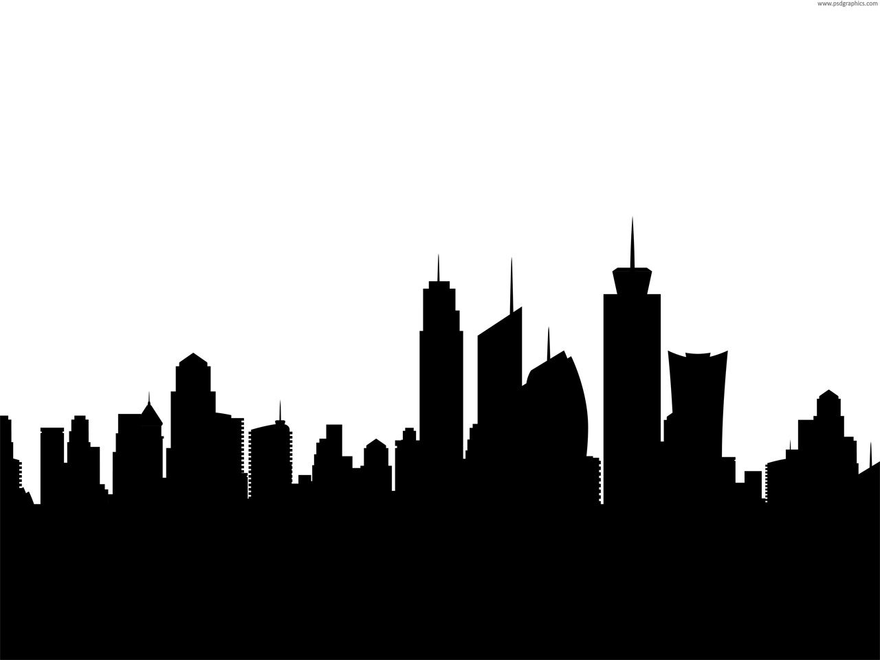 1280x960 City Skyline Silhouette Background Background Textures