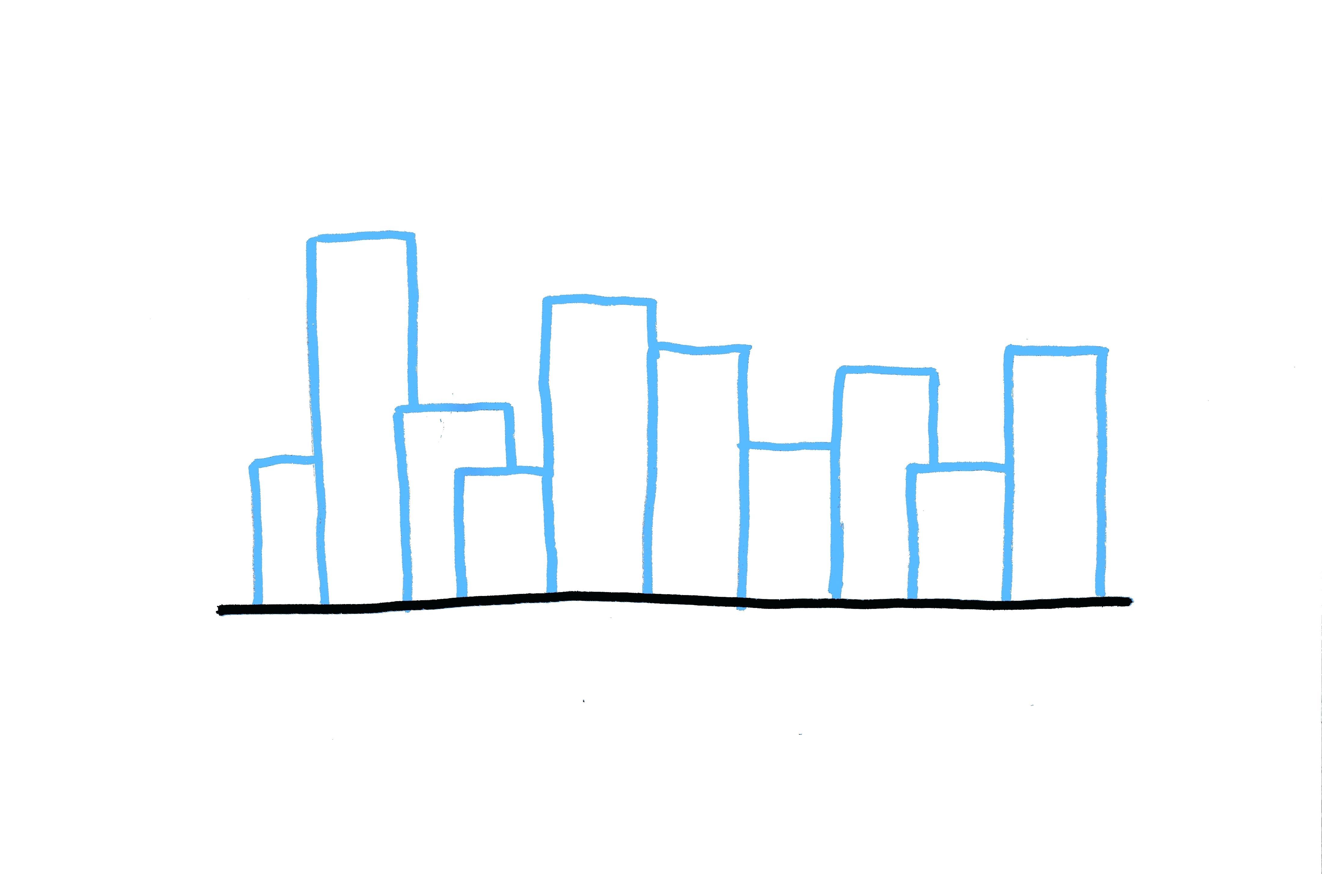 4400x2911 How To Draw A Skyline Skyline Of New City Easy To Draw Chicago