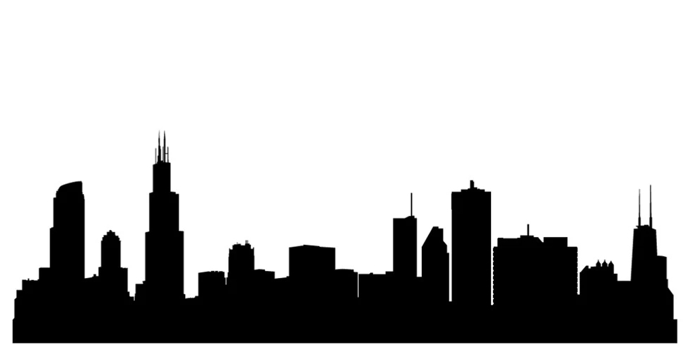 981x506 Simple Chicago Skyline Drawing