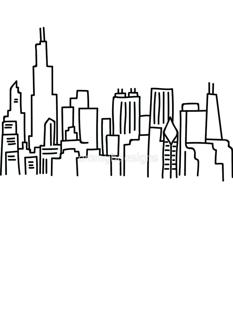 750x1000 Black And White Skyline Superb Canvas Adorable Tapestry Chicago C