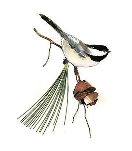 425x487 Bovano Enamel Wall Art Home Decor Chickadee
