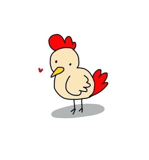 477x512 Chicken Drawing Art Little Chicken Cartoon Drawing