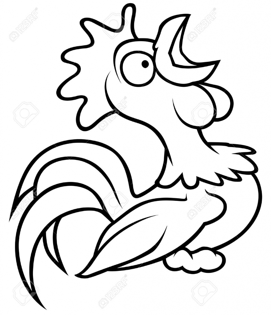 879x1024 Chicken Drawing Cartoon For Free Download