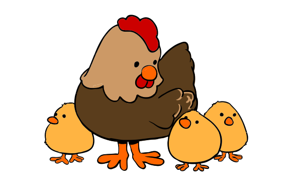 599x390 Chicken, Drawing, Cartoon, Transparent Png Image Clipart Free