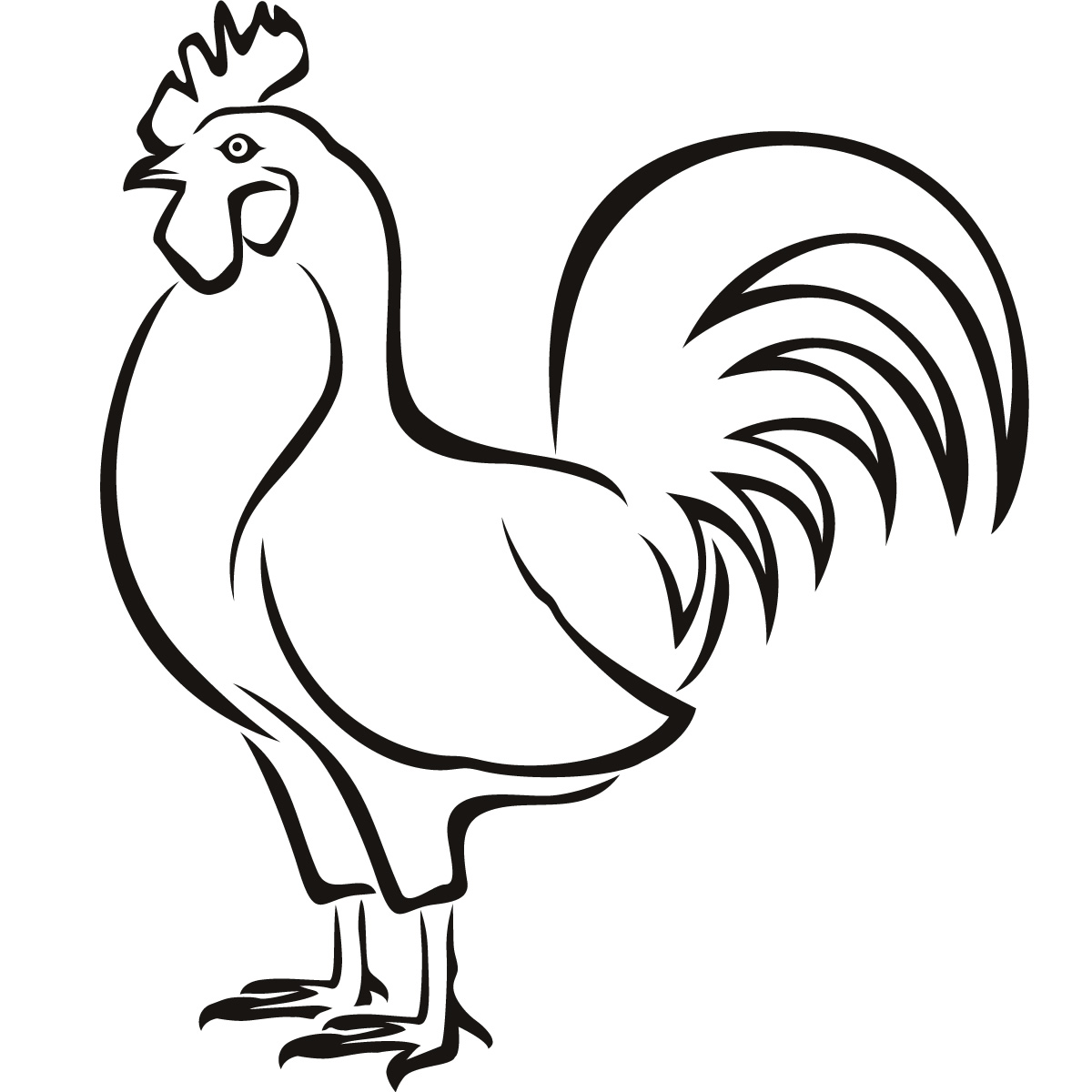 Chicken Drawing For Kids