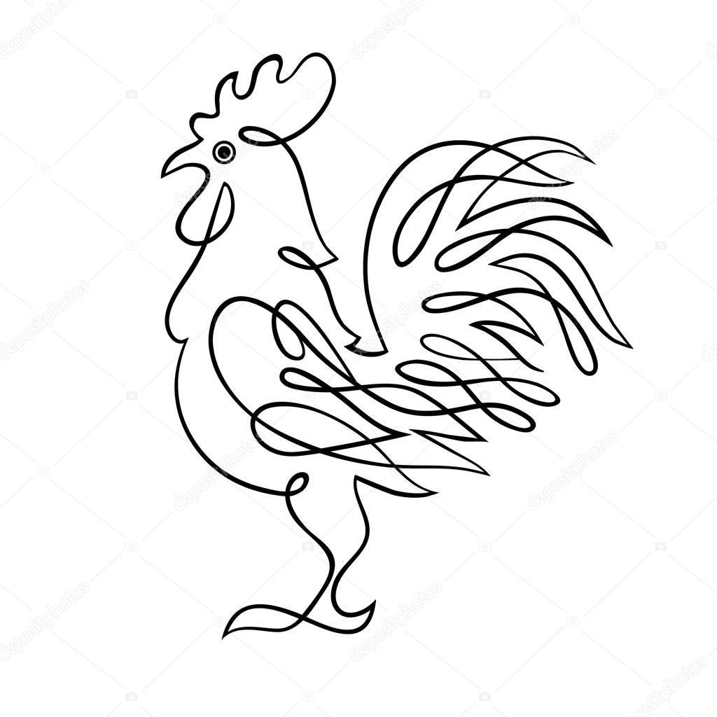 1024x1024 Chinese Drawing Chicken For Free Download