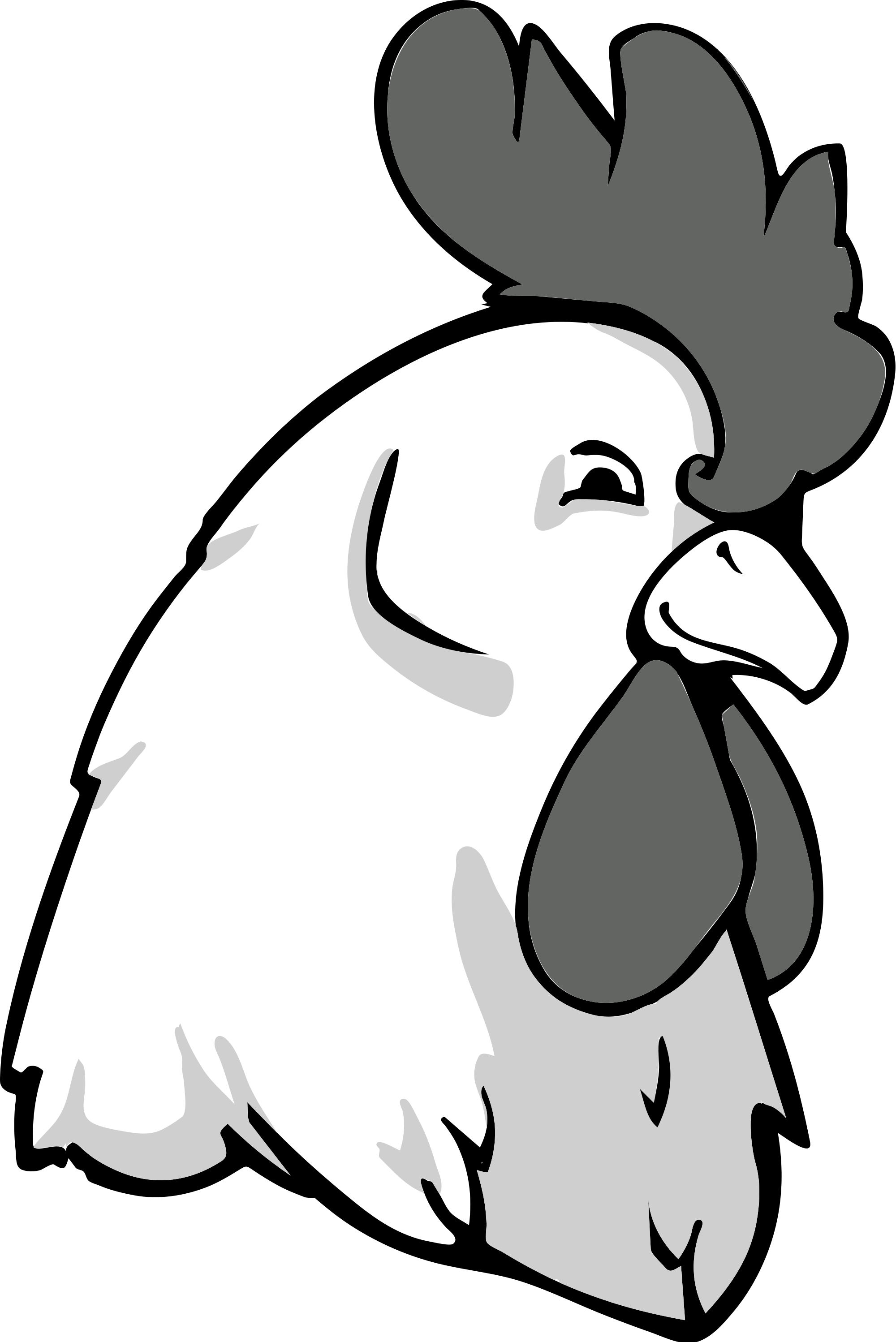 2000x2996 Collection Of Free Rooster Drawing Head Download On Ui Ex
