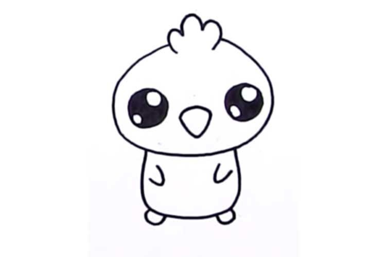 750x500 Cute Chicken Drawing Baby Chicken, Cartoon, Cute Chick
