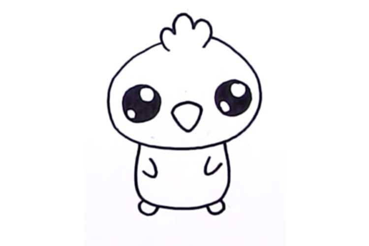 750x500 Cute Chicken Drawing Baby Chicken, Cartoon, Cute Chick