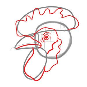 300x300 Draw A Chicken Roosters And Hens Chicken Art, Rooster Painting