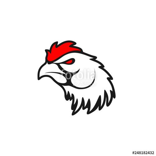 500x500 Rooster Logo Designs Concept, Chicken Head Mascot Logo Designs