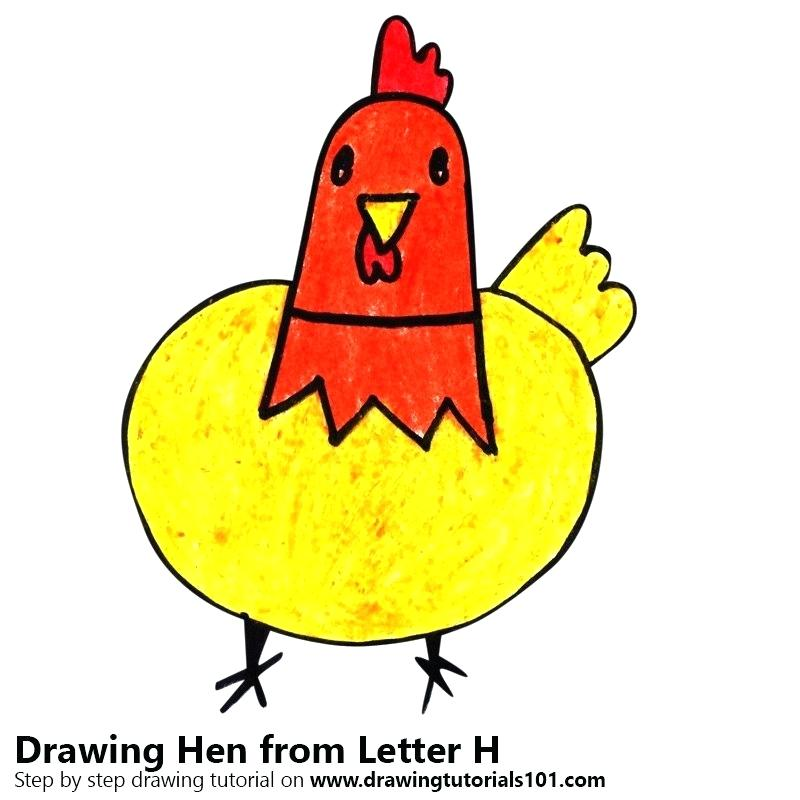 800x800 Easy Draw Chicken Running