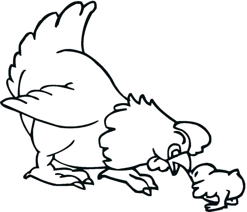 940x806 Chicken Outline Various Chicken Outline Cool Baby Chicken Outlines
