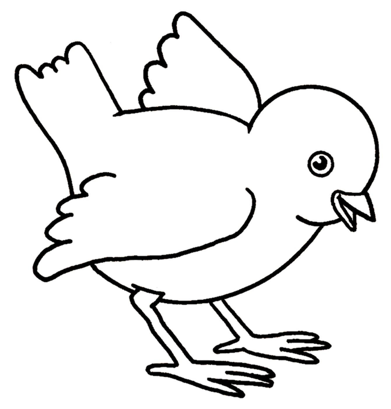 1341x1404 Cool Baby Chick Drawing Outline How To Make Hatching Iydunetwork