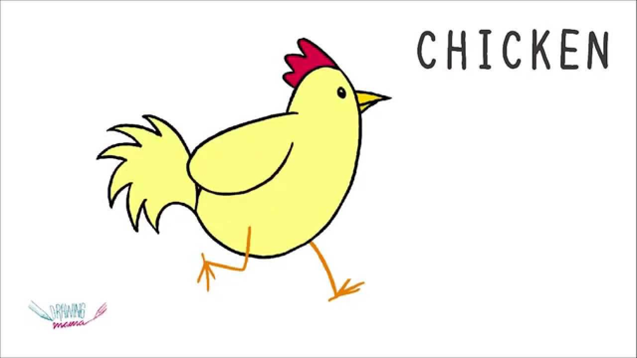 1280x720 How To Draw A Chicken