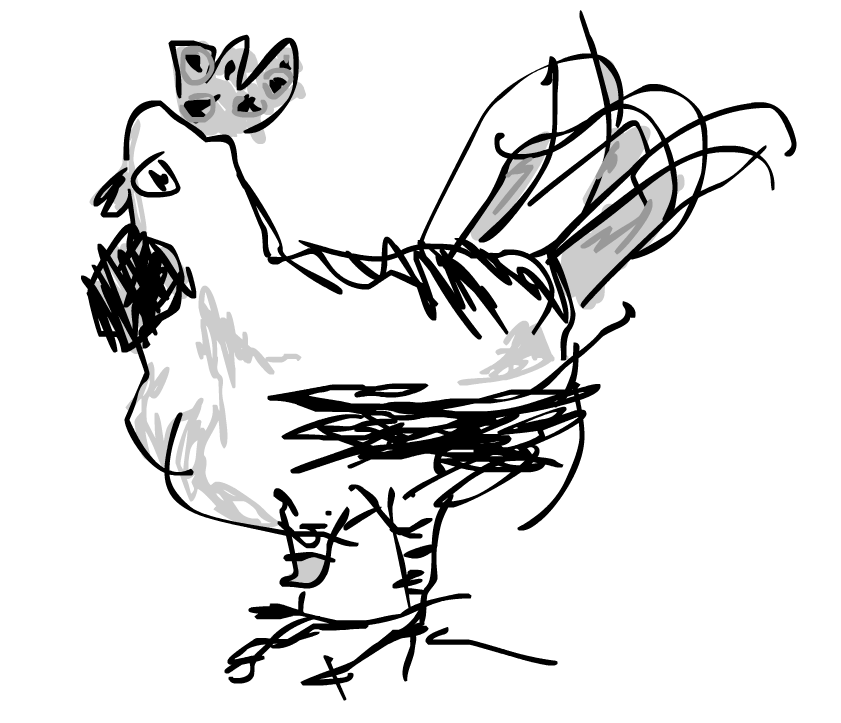 841x723 Chicken Drawing Free Download