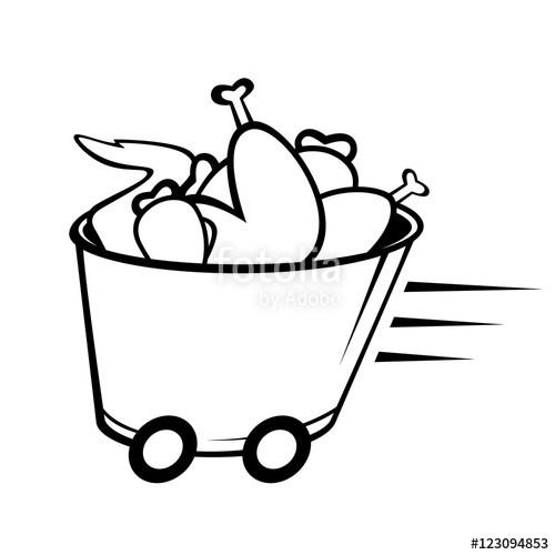 500x500 Bucket Chicken Wing Drawing