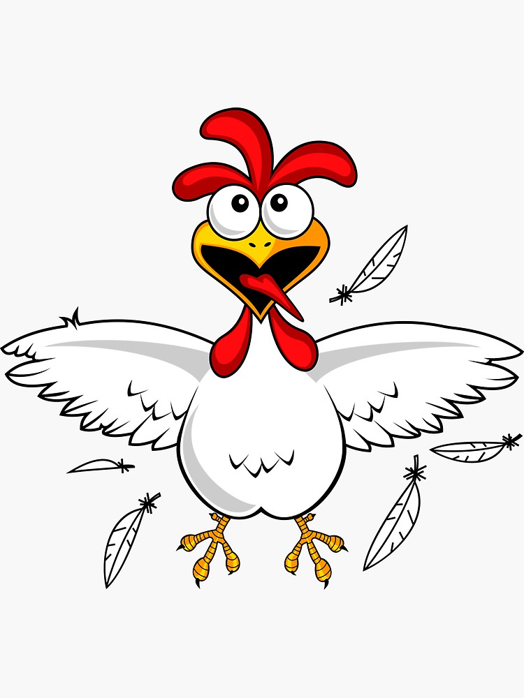 750x1000 Cartoon Chicken Art