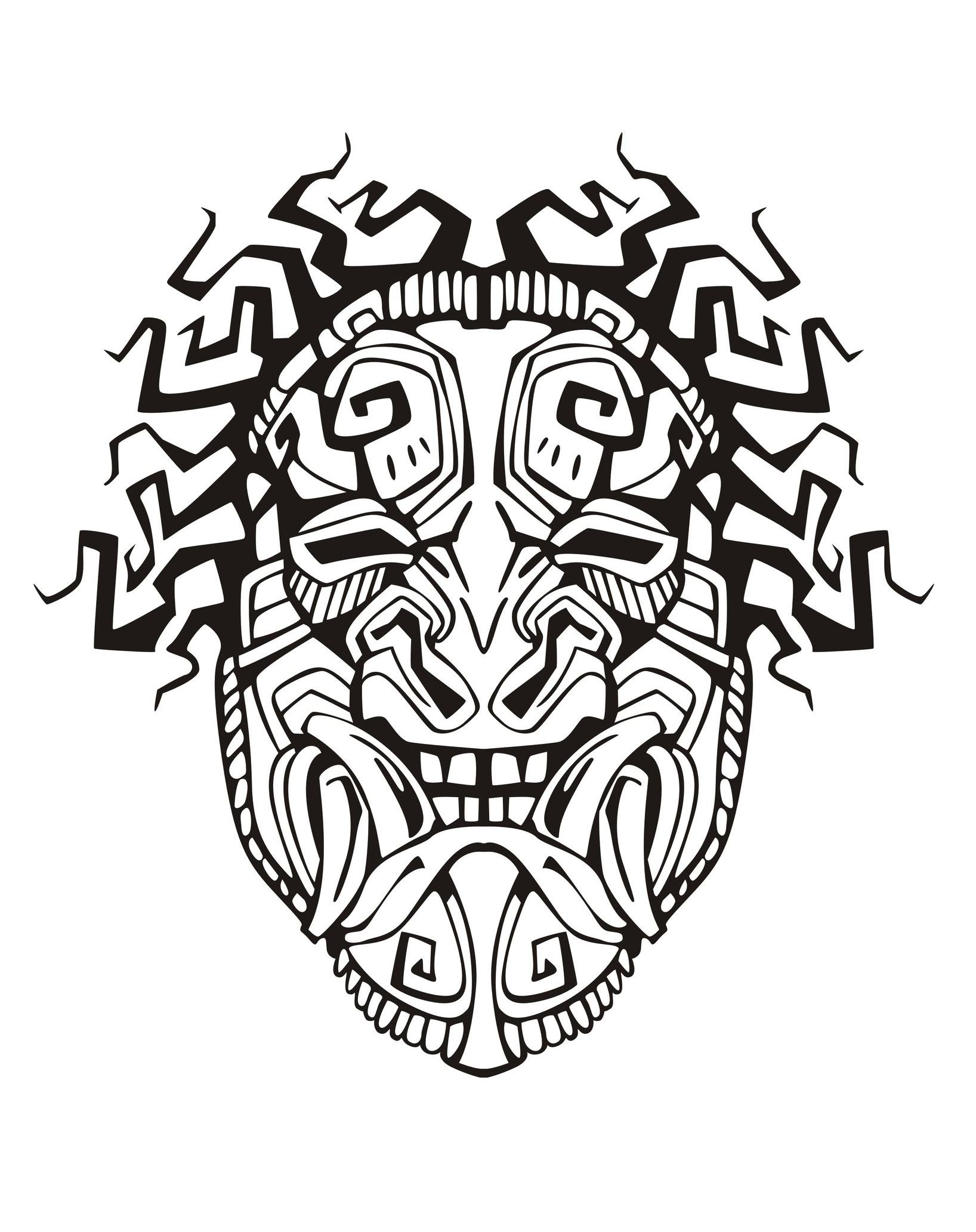 1636x2065 Mayan Drawing Chief For Free Download