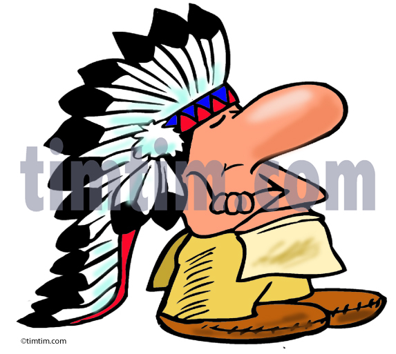 573x513 Free Drawing Of American Indian Chief From The Category History