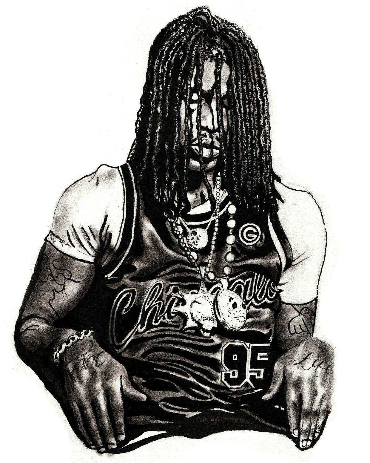 1240x1550 Supreme Drawing Chief Keef For Free Download