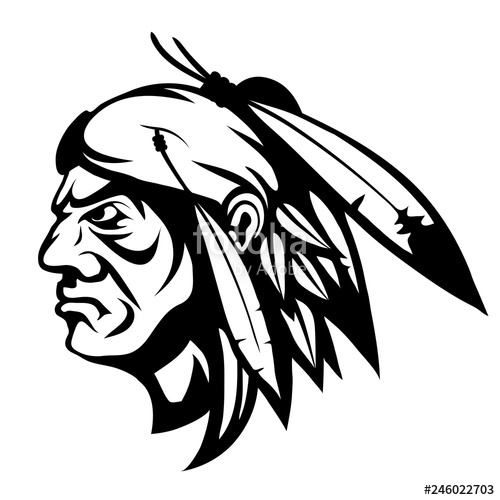 500x500 american indian chief logo, indian face logo, indian chief logo