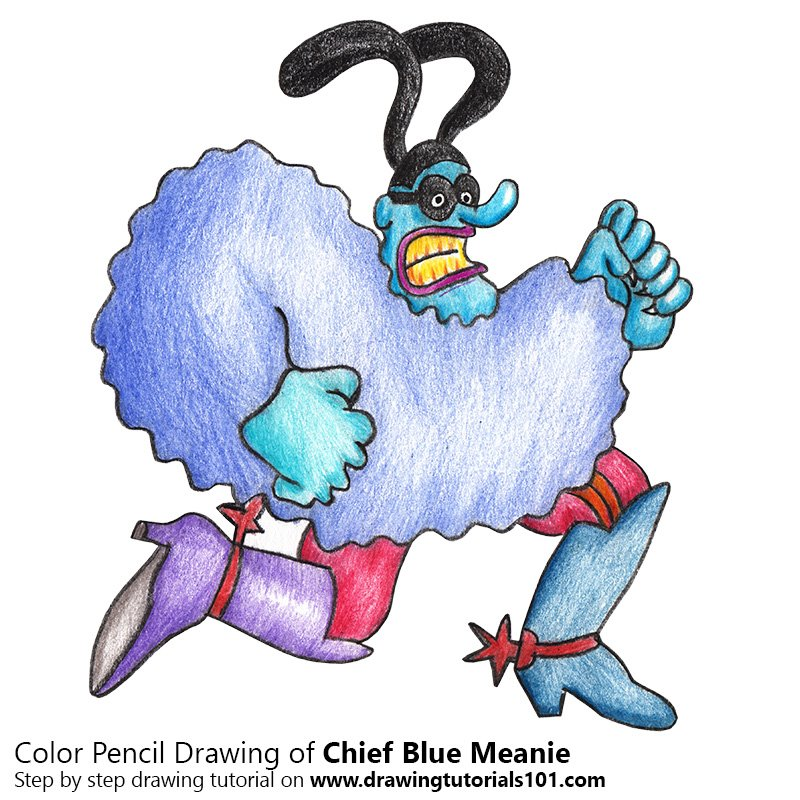 800x800 Chief Blue Meanie From Blue Meanies Colored Pencils
