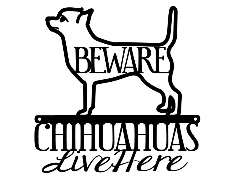794x607 Chihuahua Metal Wall Art Dog Sign Metal Sign Dog Lover Etsy
