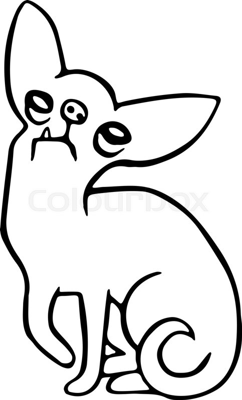 483x800 Cute Green Chihuahua Dog Isolated Stock Vector Colourbox