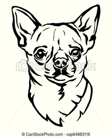 385x470 Decorative Portrait Of Dog Chihuahua Vector Illustration