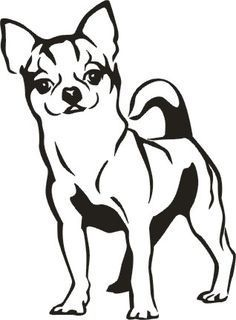 236x320 Chihuahua Line Drawing