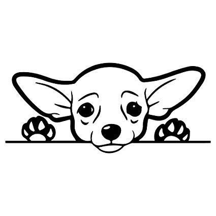 425x425 Cute Chihuahua Dog Vinyl Decal Sticker Cars Trucks