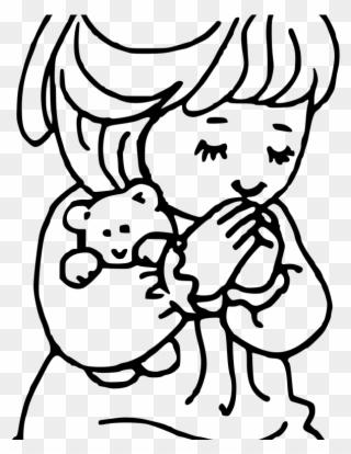 320x414 Child Praying Drawing Coloring